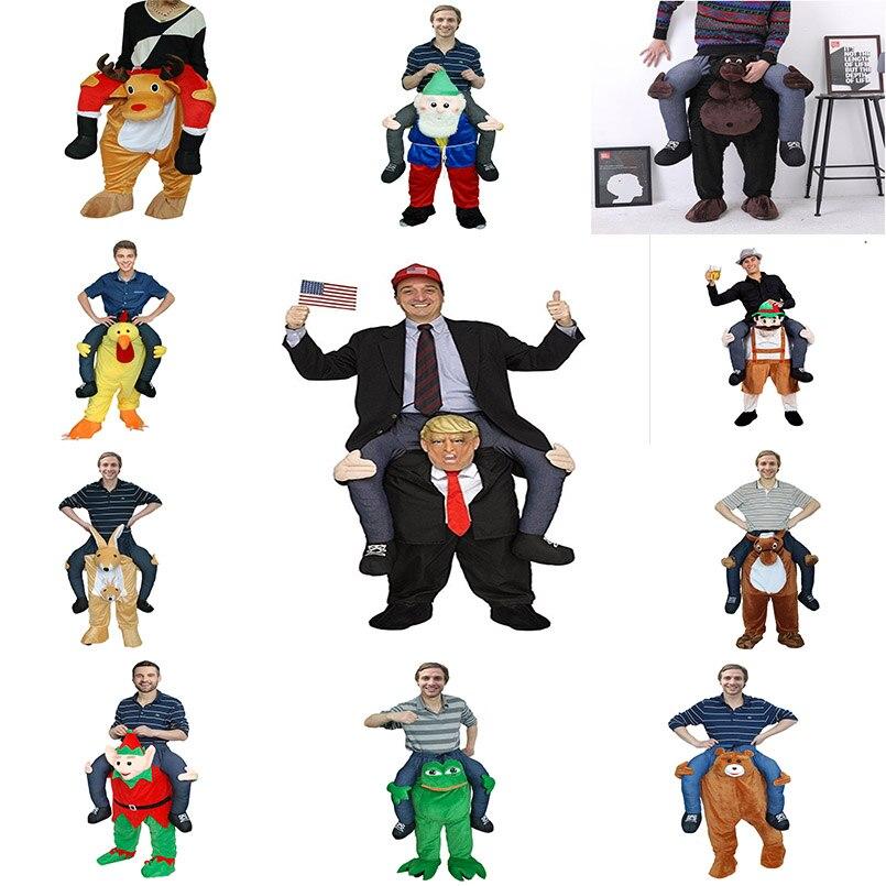 Divertido Cosplay Donald Trump Navidad Halloween fiesta caballo paseo ropa novedad llevar de nuevo juguetes al aire libre regalo para adultos-in Animales de juguete para montarse from Juguetes y pasatiempos    1