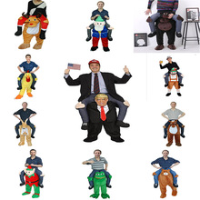 Toys Ride Party-Horse Trump for Grownups Gift Carry-Back Christmas Cosplay Funny Halloween