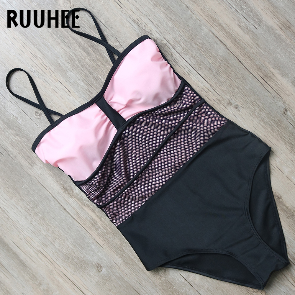 RUUHEE Swimwear Women One Piece Swimsuit Sexy Mesh Bodysuit 2018 Bathing Suit Swimming Suit For Women Swimsuit Monokini Bikini ruuhee swimwear women one piece swimsuit 2017 bodysuit sexy mesh bathing suit swimming suit monokini maillot de bain bikini