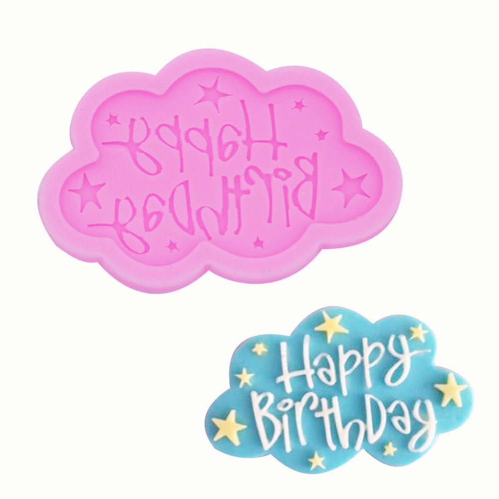 Happy Birthday Cake Decorating Tools Fondant Plunger Cutters Cake Tools Cookie Biscuit Cake Mold Bakeware Accessories #F
