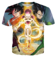 Women/men Dragon ball z Frieza Vegeta Goku T shirt Summer Fashion 3D Printed anime cartoon Tee