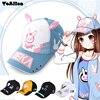DVA Rabbit Ear Cute Baseball Cap Women Men Cartoon Embroidery Snapback Hat Japanese Comic OW D