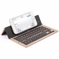Universal Triple Foldable Keyboard 58 Keys Bluetooth 3 0 Wireless Mini Aluminum Alloy Keyboard For Android