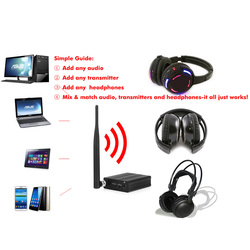 Samples here 500m distance Silent Disco headphones- RF Wireless For iPod MP3 DJ music pary club meet