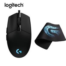 Logitech G102 Prodigy Gaming Mouse Gamer Mice Original Mause 6000dpi Optical Ergonomic Computer Games Mouse+Soft Rubber Mousepad