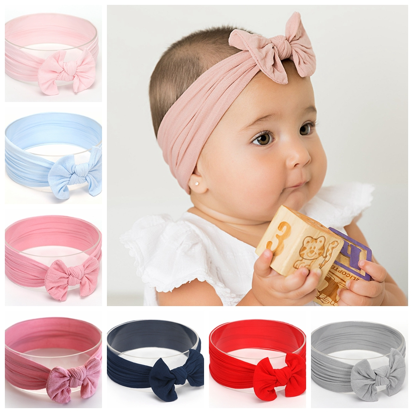 New Cotton Blend Nylon Baby Infant Headbands Newborn Big Bow Knot Head Wrap Baby Hair Accessories Birthday Gift Photo PropsNew Cotton Blend Nylon Baby Infant Headbands Newborn Big Bow Knot Head Wrap Baby Hair Accessories Birthday Gift Photo Props