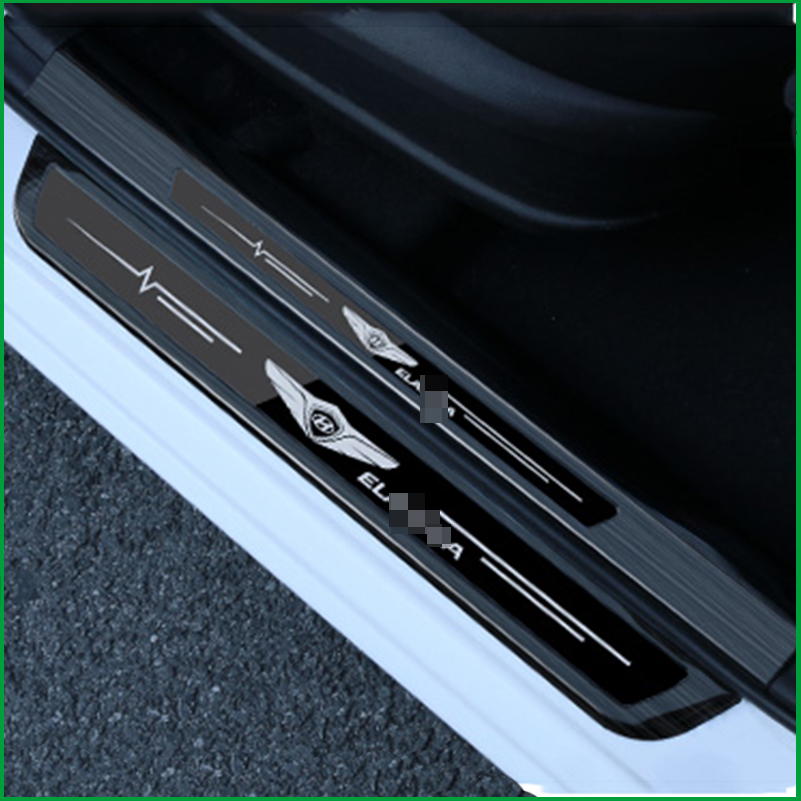 цены For Hyundai Elantra Avante 2016 2017 2018 Car scuff plate Stainless Steel door Sill trim welcome pedal Cover Sticker Car Styling