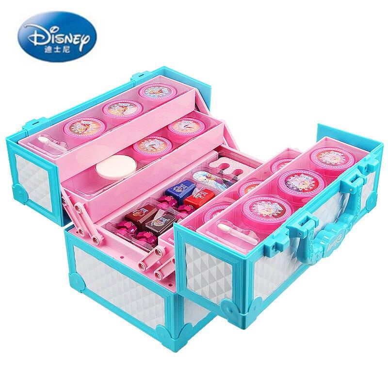 Disney faire semblant de jouer princesse reine des neiges variété princesse multifonctionnelle valise enfants cosmétiques filles jouets