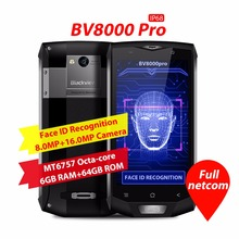 Blackview BV8000 Pro 5.0 inch FHD IP68 Waterproof Phone MTK6757 Octa Core Android 7.0 6GB RAM 64GB ROM 16MP Shockproof Phone NFC