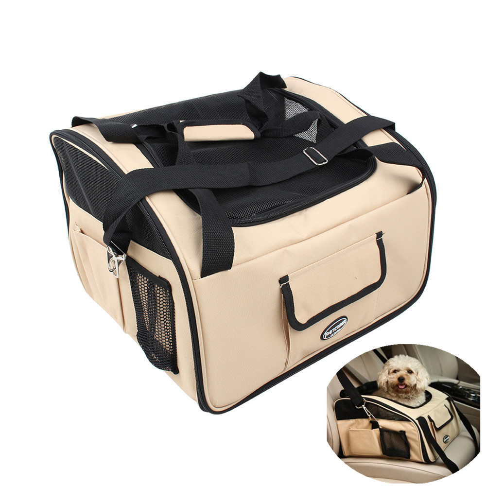 1Pcs BEIGE CAT DOG CAT PUPPY PET CAR SAFETY SEAT CARRIER ...