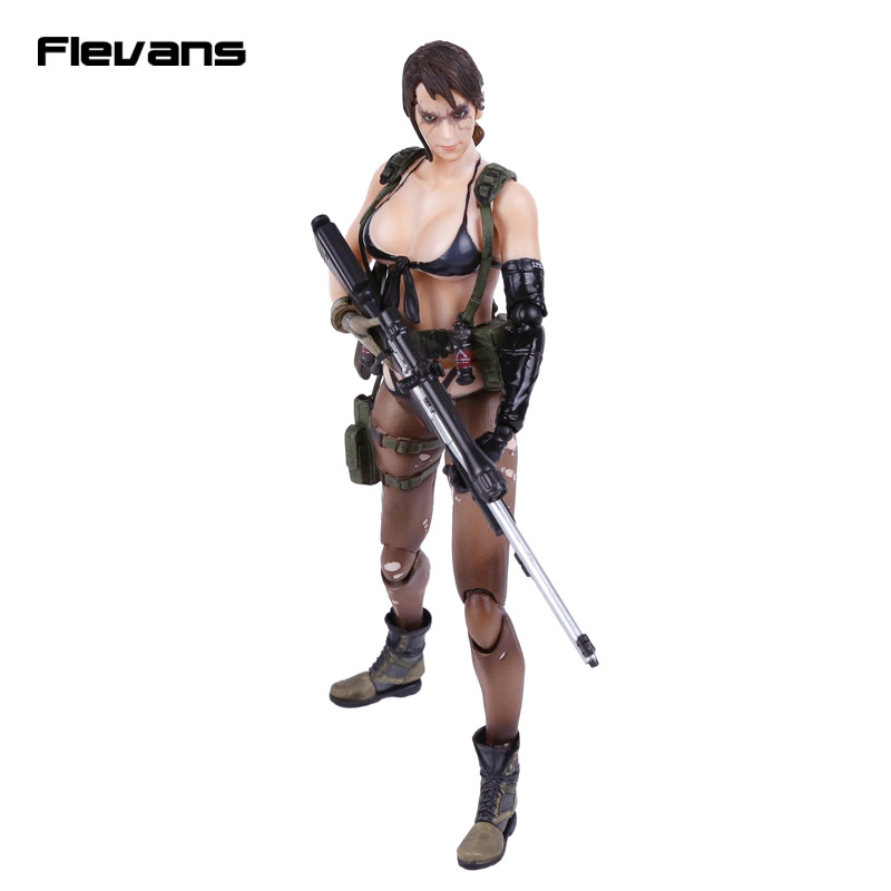 Play Arts KAI Metal Gear Solid V The Phantom Pain Quiet PVC Action Figure Collectible Model Toy 26cm kitchenaid форма для пирога 23см антипригарное покрытие kitchenaid