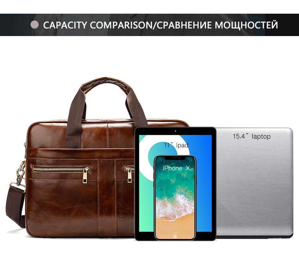 HTB1HCoBa.T1gK0jSZFhq6yAtVXaC WESTAL Bag men's Genuine Leather briefcase Male man laptop bag natural Leather for men Messenger bags men's briefcases 2019