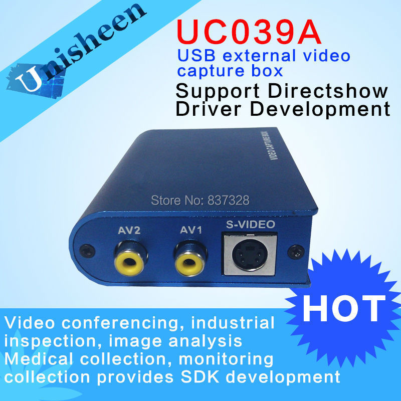 USB Video Capture Box CVBS S-Video Win7 SDK B Ultrasonic Video Conference Image Analysis