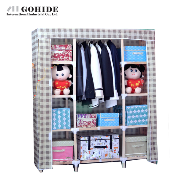 Gohide Cloth Simple Solid Wood Cloth Wardrobe Cabinet Furniture Wardrobes With Lockers For Bedroom Bedroom Furniture Closet