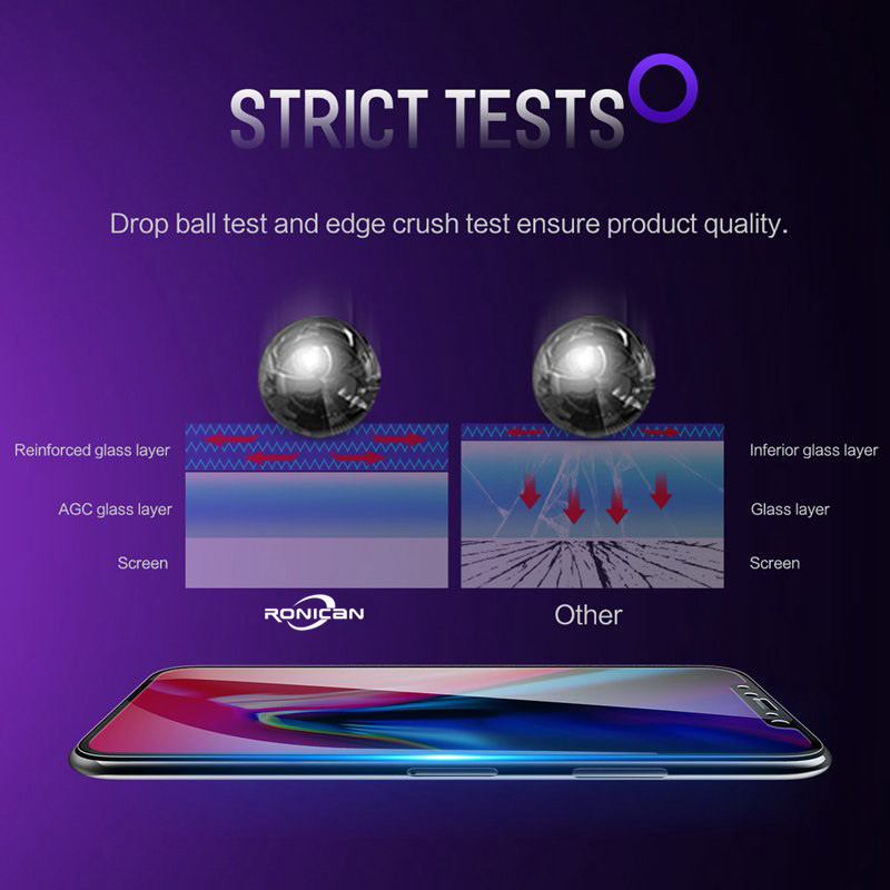 0 23mm 3D Curved Tempered Glass for iPhone X XS Max xr Soft Edge High Definition Anti Blue Light Screen Protector for iPhone XS in Phone Screen Protectors from Cellphones Telecommunications