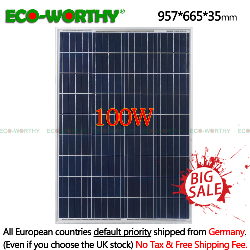 100W 18V Polycrystalline kit Solar Power Panel for charge 12v Battery off Grid System Solar Home