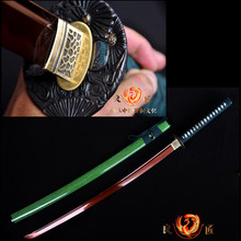 Battle ready 9260spring steel red blade katana sword full tang sharp