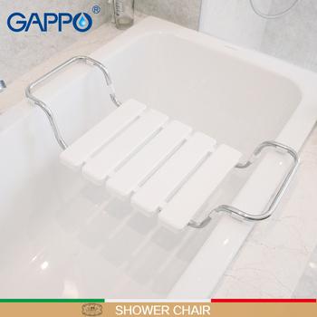 GAPPO ścienny prysznic do montażu siedziska ławka prysznicowa składane krzesło baterie prysznicowe baterie wannowe baterie wodospad zestawy do kąpieli tanie i dobre opinie STAINLESS STEEL 200 kg Y523 shower folding seat bath chair shower stool shower bench