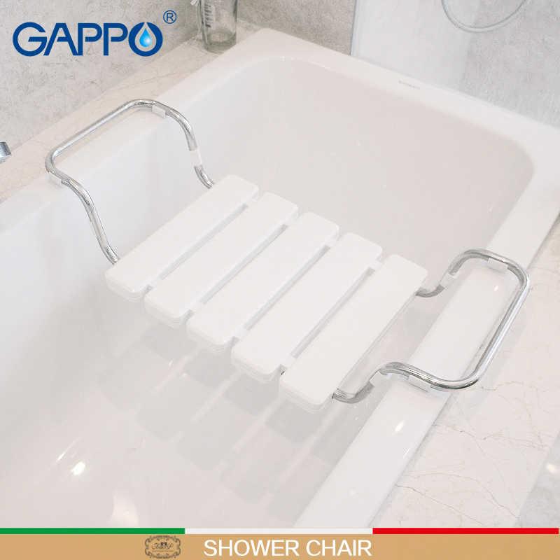 GAPPO настенное сиденье для душа ванна скамья душ складной стул Душ Смесители для ванной комнаты кран-смеситель водопад наборы для ванны