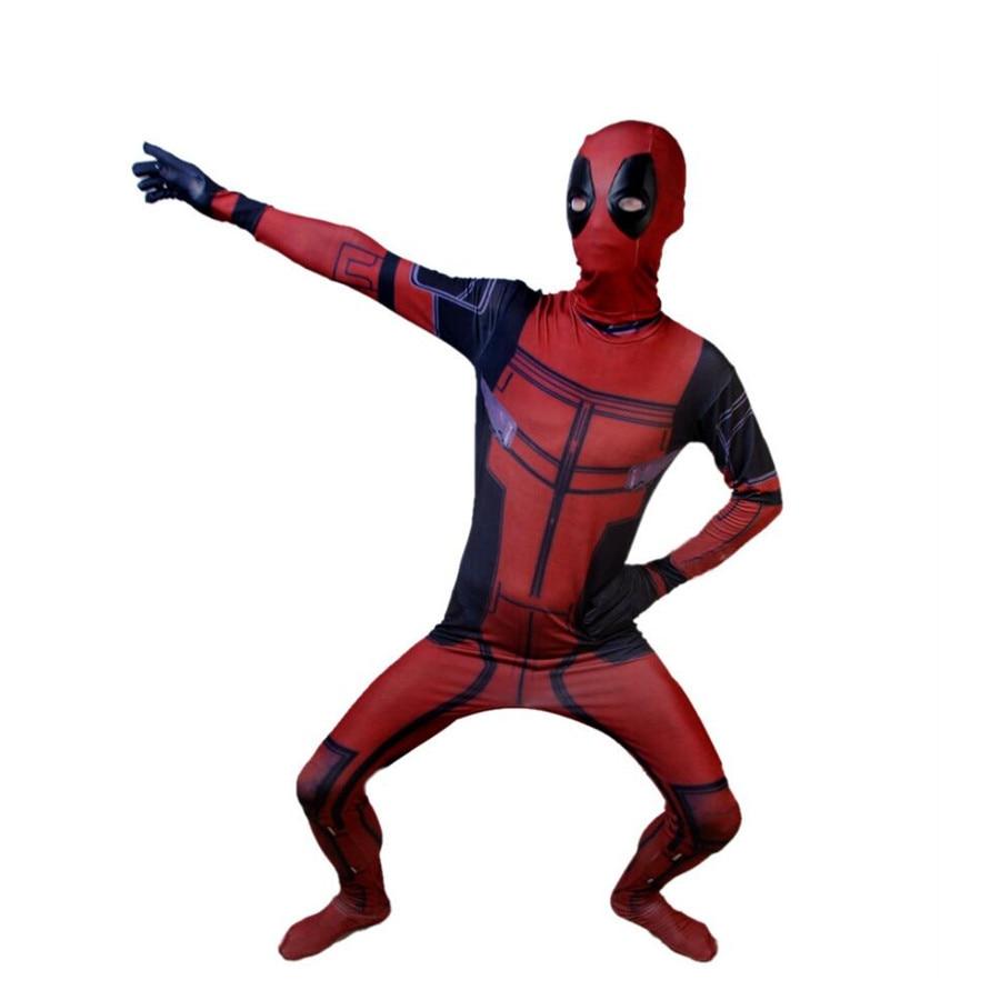 Deadpool Cosplay Jumpsuits Halloween Bodysuit Adult Kids Cosplay Costume