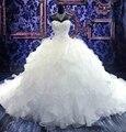 Romántico cariño popular moderna blanco magnífico vestidos de quinceañera puffy sweet 16 de bola del vestido