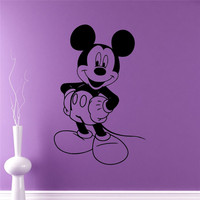 Mouse Wall Sticker Cartoon Vinyl Sticker Wall Art Decor Children S Kids Room Ideas Room Interior