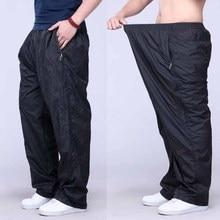 Брюки большого размера плюс, весенние Летние повседневные штаны, мужские спортивные штаны, свободные тонкие спортивные штаны, мужская одежда