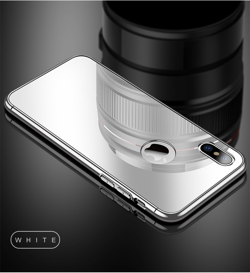 CAFELE Luxury Case For iPhone X 10 plating frame Tempered 3 in 1 Glass Ultra Thin color Glass Back Cover For iPhones X 10 Cases (16)