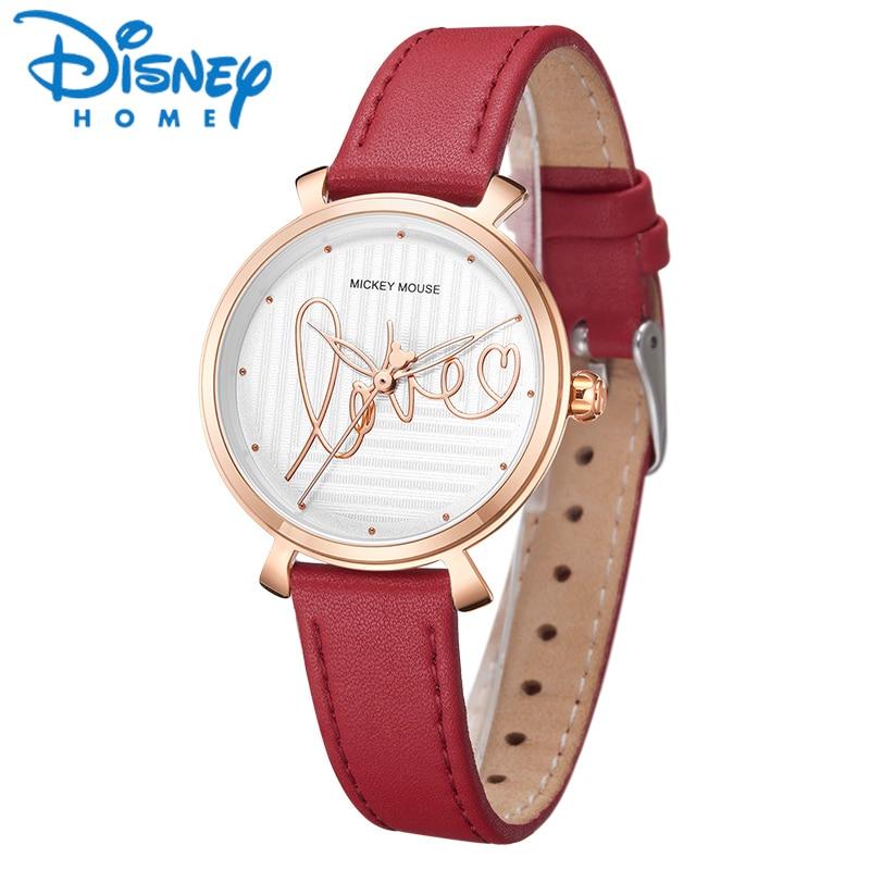 Disney mode montre femme horloge dames en cuir Quartz amour montres femmes montre-bracelet 2019 montre bracelet femme relojes dama