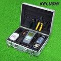 KELUSHI 22 EN 1 Kit de Herramienta de Fibra Óptica FTTH 10 mW Visual de fallos Localizador portátil Medidor de Potencia Óptica de Fibra Óptica Cleaver Y Herramienta de Desmontaje