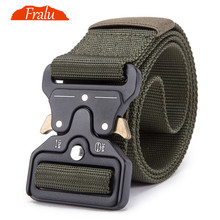 FRALU Mens Tactical Belt Military Nylon Outdoor multifunctional Training Combat Belts Sturdy Waistband Drop shipping