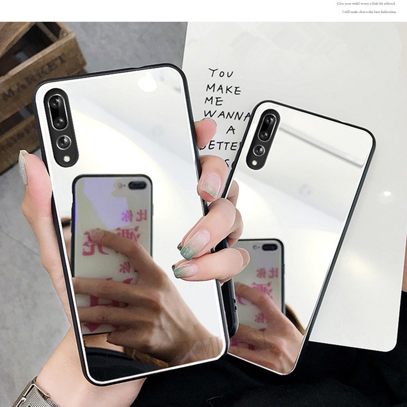 US $1.07 21% OFF|Mirror Case For Huawei P30 P20 pro P Smart Y9 2019 Y6 Prime 2018 Nova 3 3i Honor 7A 7C Pro 9 Mate 10 Lite Silicone Frame Cover-in Half-wrapped Cases from Cellphones & Telecommunications on AliExpress