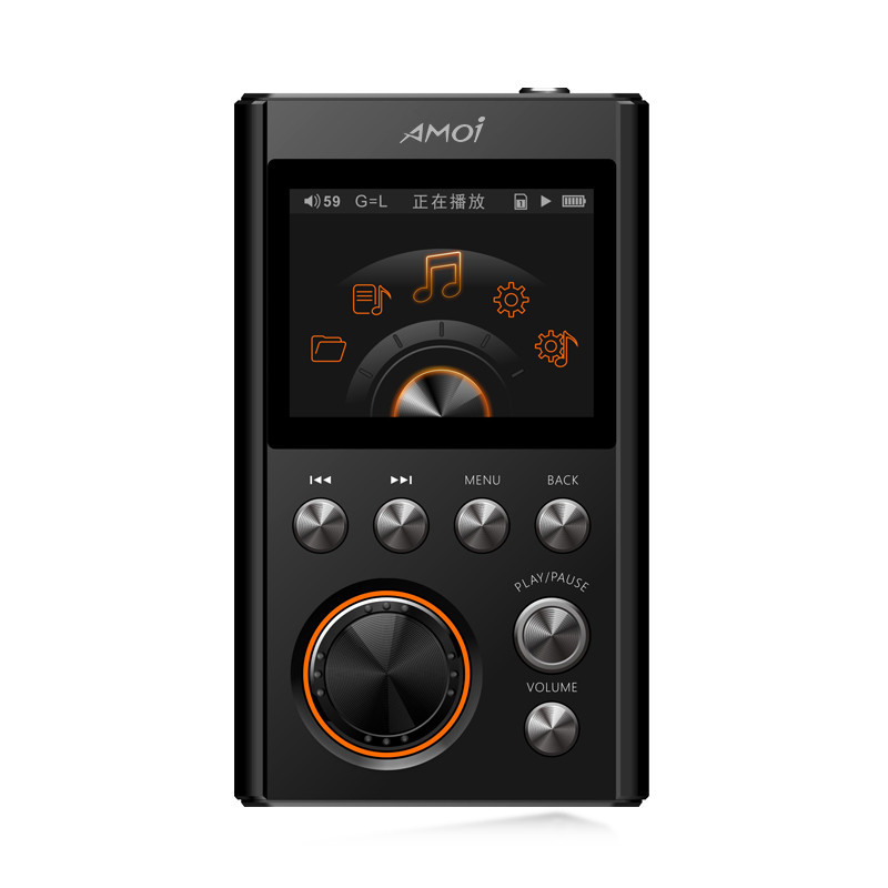 Amoi HIFI MP3 Player Upgraded Version DSD64 Decoding Lossless High Quality Music player DAC WM8965 Support TF Card fiio x7 new flagship lossless music android pda player dxd dsd player 64bit 384khz usb dac no headphone amplifier module