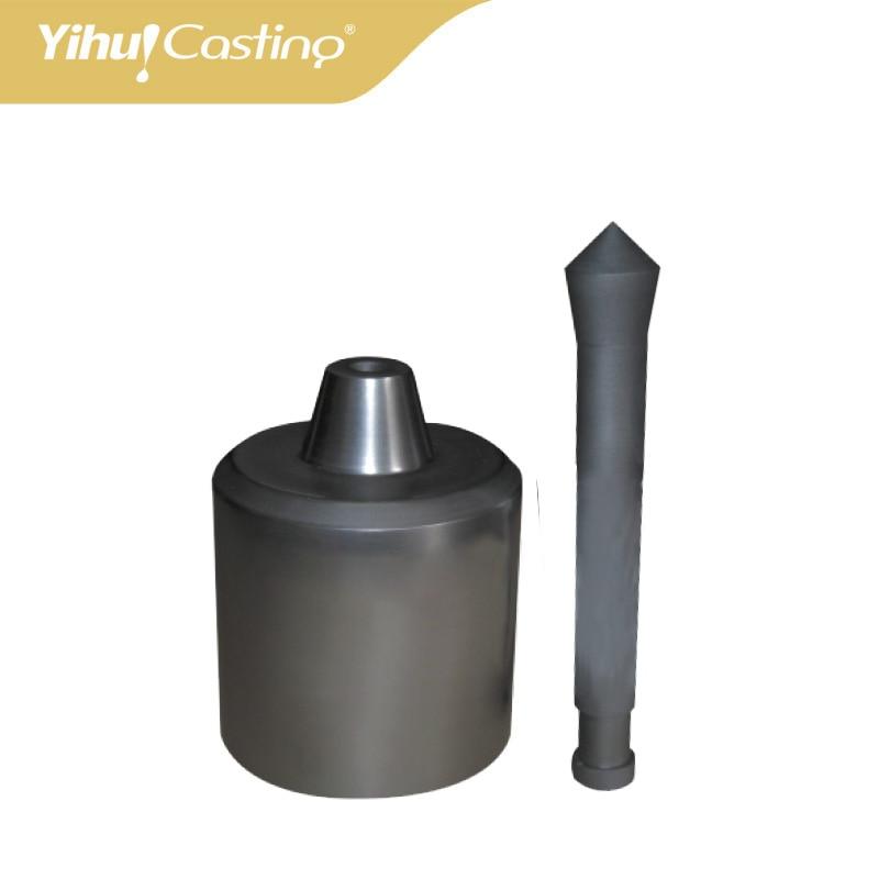 Yasui K5 isostatic Graphite casting crucible and stopper