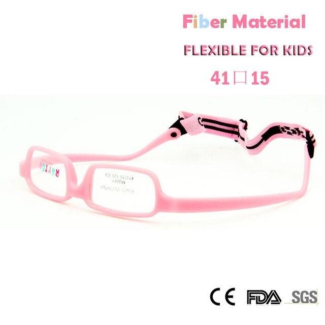 401eb37b697d Дети Очки Рамки Обувь для девочек гибкий глаз Очки с ремешком Волокно  Материал не винт небьющиеся