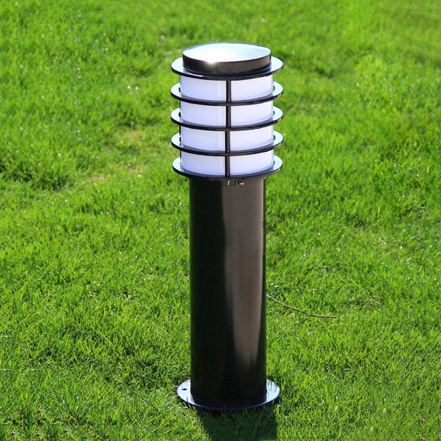 Modern tuinverlichting kültéri lámpák utcai kockás lámpa vízálló udvar fű villa táj világítás