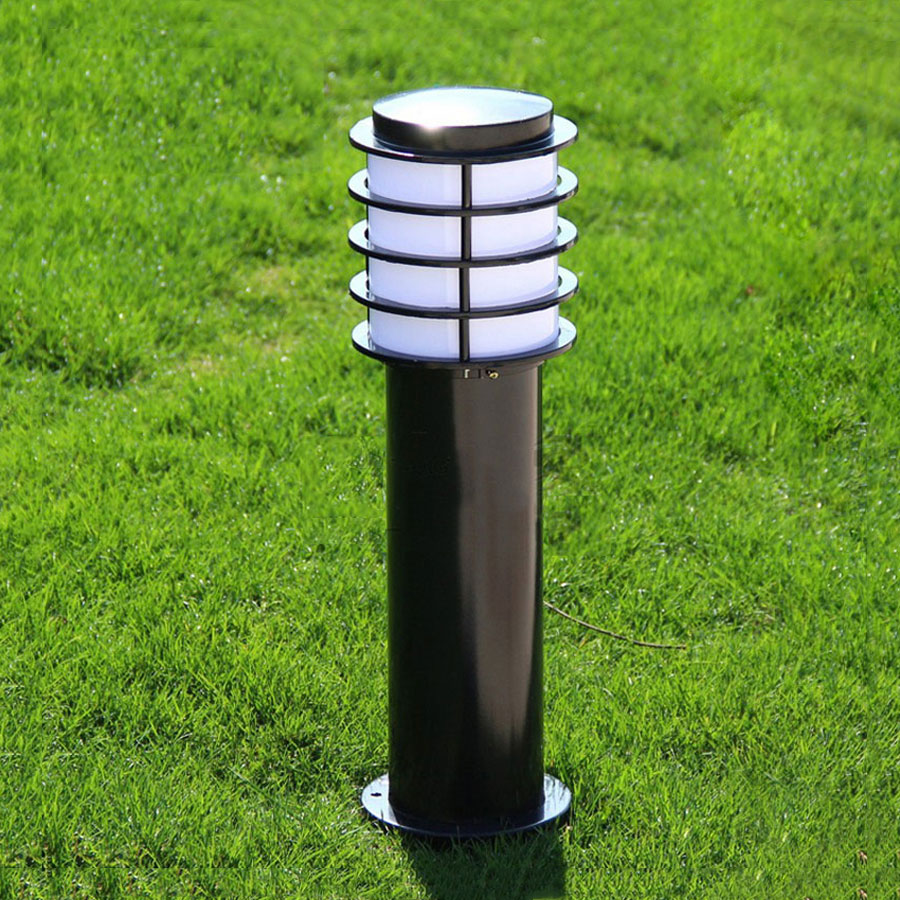 Moderne tuinverlichting buitenlampen straat geruite lamp waterdichte binnenplaats gras villa landschapsverlichting