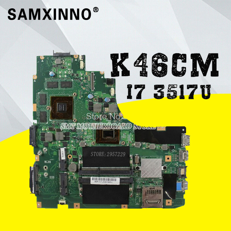 Laptop motherboard K46CB K46CM A46C K46CA for ASUS non-Integrated i7 CPU 8 video card GT635M HM76 2GB DDR3 VRAMmainboard цены