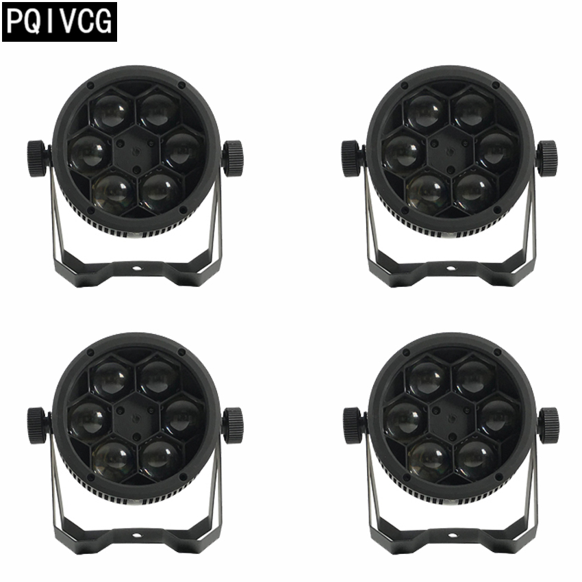 4pcs/6x12w Bee Eyes par light rgbw 4in1 DMX512 Bee Eyes beam light mini bee eyes lights professional stage lighting equipment bee