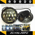 """for Harley Davidson Dyna BMW Motorcycle 7"""" round LED headlight with day time running light DRL and high low beam 7 inch LED lamp"""