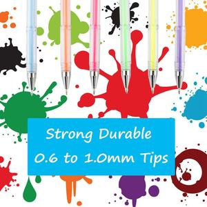 Image 2 - 100ゲルペン着色ペンセット大人のための塗り絵スクラップブッキング描画などグリッターメタリックパステルネオンsw