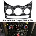 Estilo Fibra De carbono Centro Dashboad Console Guarnição Cobertura para MINI  Cooper F56 F55 F57 68e20a3e76