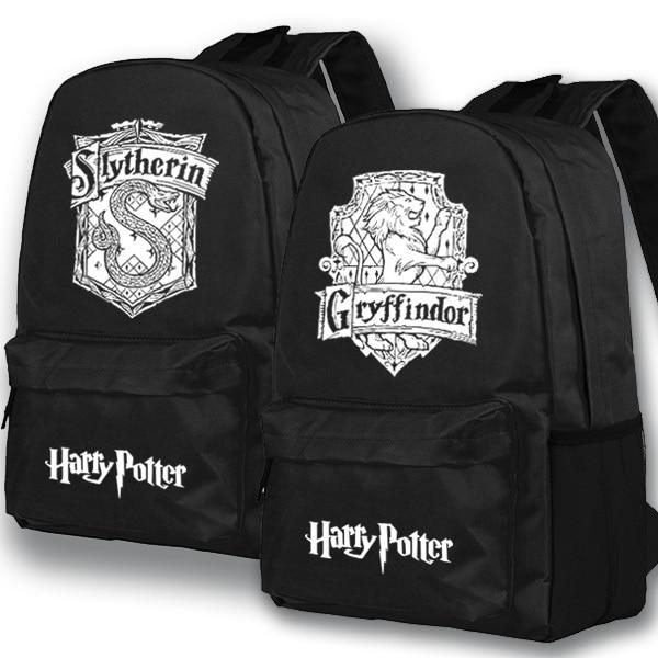 2017 New Harry Potter luminous Backpack Middle School Student Bag Boobkag Travel Shoulder Backpack Men And Women Backpacks 2016 new print shoulder bag college wind travel canvas backpack middle school student backpack leopard women s shoulder bag8802