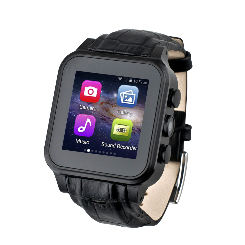Dual Core Android Wifi Smart Watch Phone with 3G Network 512 RAM 4GB ROM Support 720P Filming GPS Locate Email APP Download S93