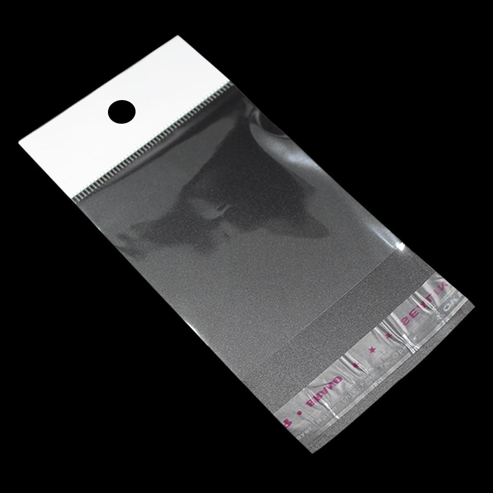 fa8a6f76d 4*10 cm bolsa de plástico sello auto-adhesivo claro OPP polybag del partido  empaquetado al por menor con el agujero de la caída para el embalaje de  regalo ...