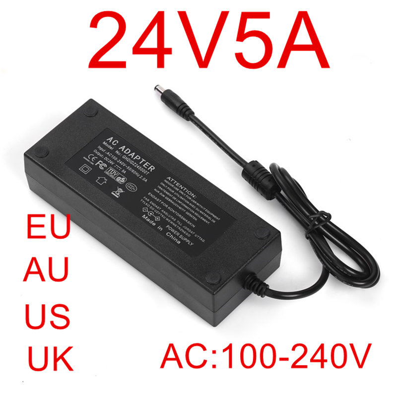 10PCS 96W 24V 4A AC-DC Power Adapter 24v4a 4000mA + US/EU/UK/AU plug 24V Adapter 24V 4A 10pcs fqpf4n90c 4n90 4a 900v to 220f