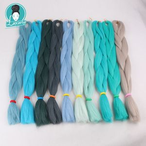 """Image 4 - Luxury For Braiding 10packs 24"""" 94colors Navy Neon Olive Lavender Lilac Vintage Grey  Synthetic Fiber Jumbo Braids"""