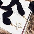 Hot 2016 Moda Bufanda Larga Declaración Collar Collar de Metal Serie Estrella de La Luna Gargantilla Suéter Cadena de Joyería de Las Mujeres Accesorios de Regalo