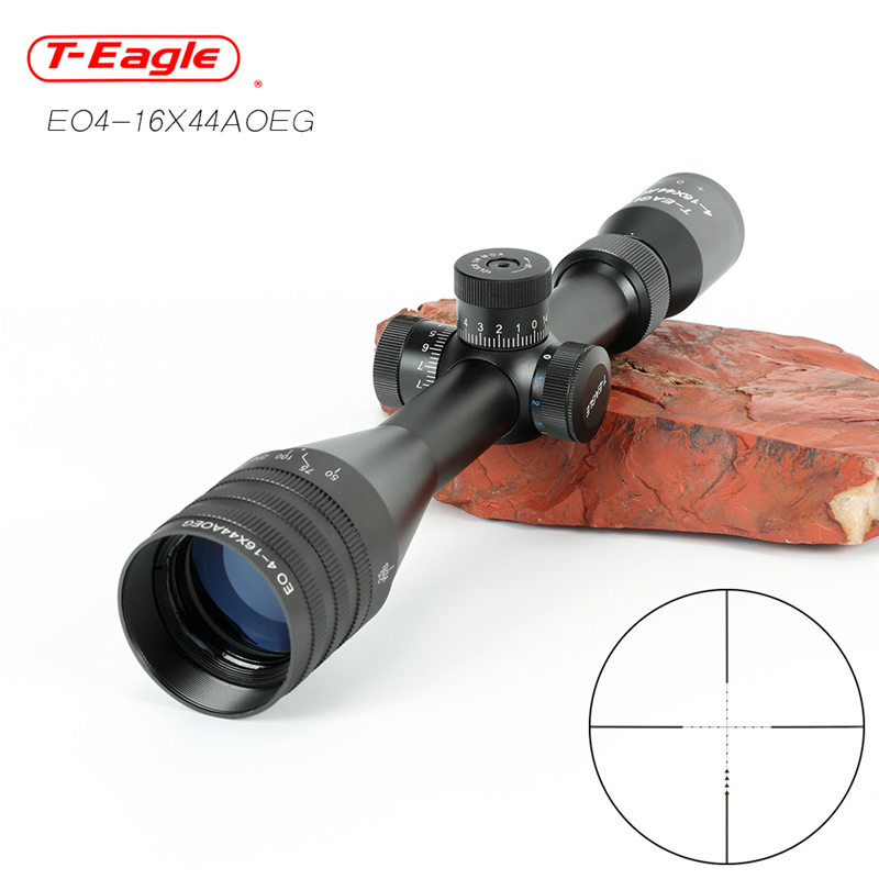 T-EAGLE EO4-16X44AOE Hunting Riflescope Tactical Optical Sight Full Size Mil-Dot RGB Wire Reticle Hunting Optics Rifle Scope