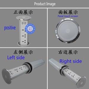 Image 3 - Pantalla táctil de potencia Universal, elevador inteligente para cocina, alta calidad, hogar, multifunción oculta, enchufe de escritorio, carga por USB de oficina